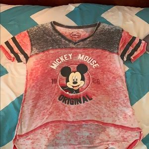 short sleeve mickey mouse shirt